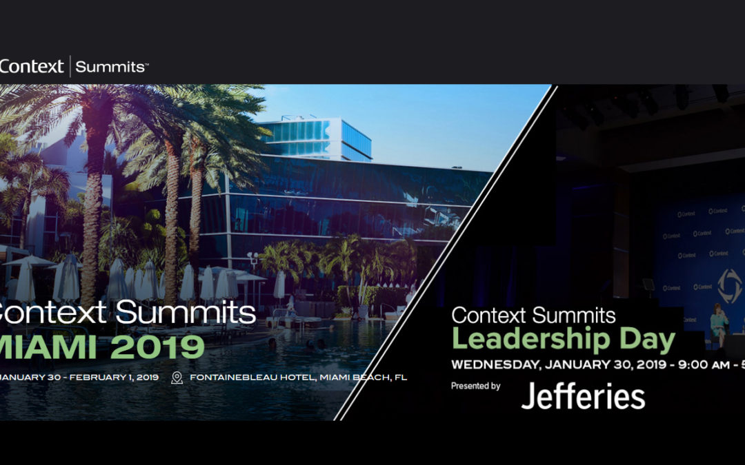 JEF team to attend the Context Summits Leadership Day Miami 2019