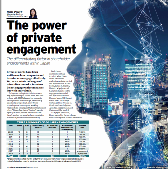 The  power of private engagement